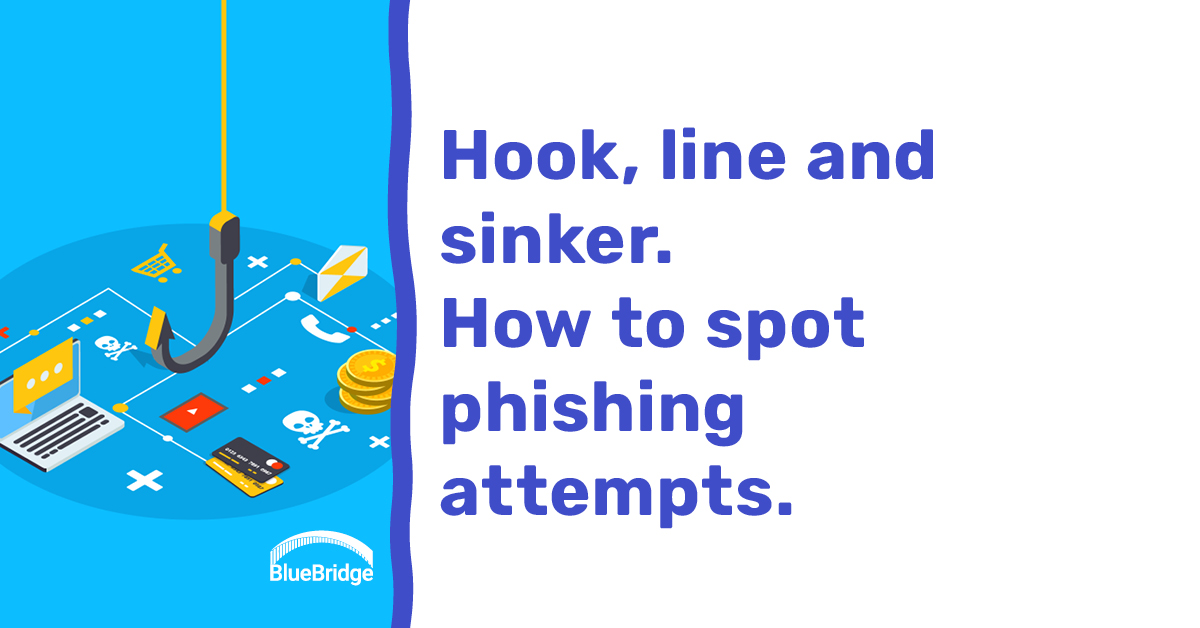 Hook, line and sinker. How to spot phishing attempts