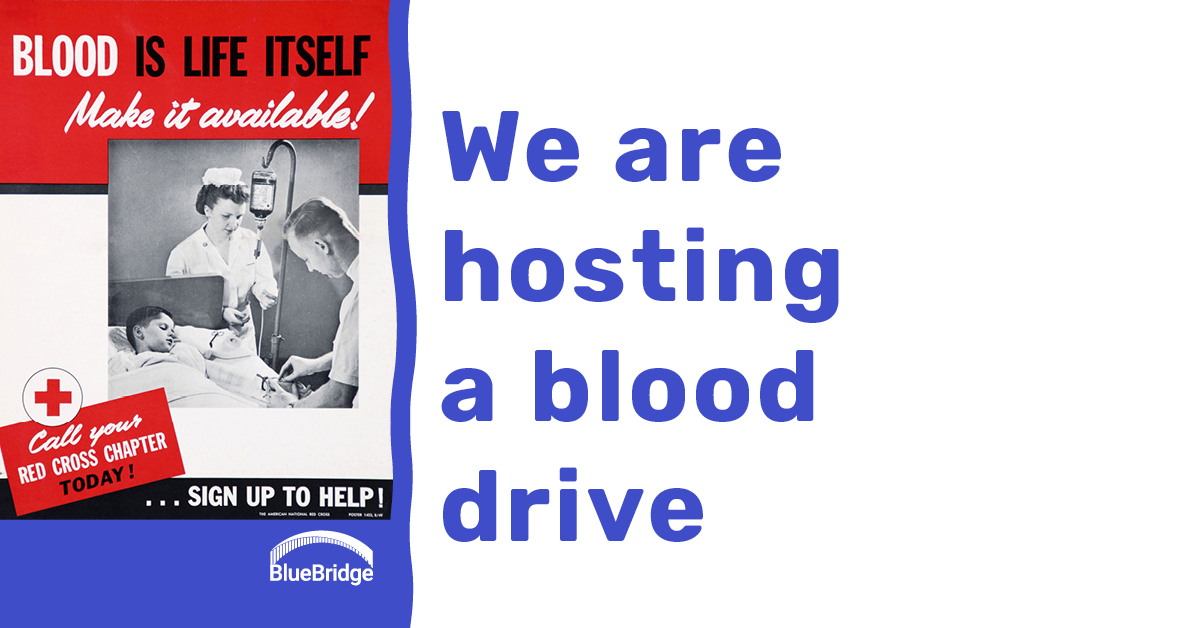 We are hosting a blood drive