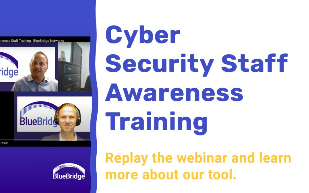 Replay: Watch our webinar on cyber security staff awareness training.